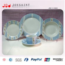 16PCS Hand Printing Porcelain Salad Plate Simple Design Dinner Plate