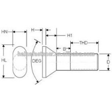 Hergestellt in China Stahl T Liner Schraube