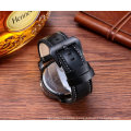Fashion Multifunction Wristwatch Big Dial with 3eyes and Pushers for Men