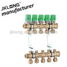 Colector de latão forjado para aquecimento colector de aquecimento de chão de 5 loops