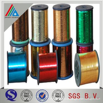 Película de tipo tipo M para fios metálicos de prata e dourada