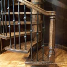 Prix d'escalier en bois en spirale extérieure