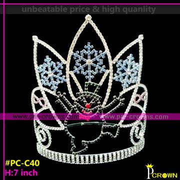 Christmas Pageant Tiaras and Crown Cheap Snowflake Tiaras
