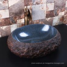 Alta qualidade casa decoração banheiro granito navio pia topos