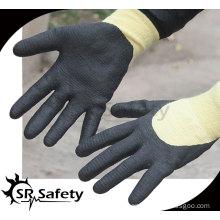 SRSAFETY 13G Cut Resistant Micro Foam Nitrile Working Glove/ aramid fiber nitrile working gloves