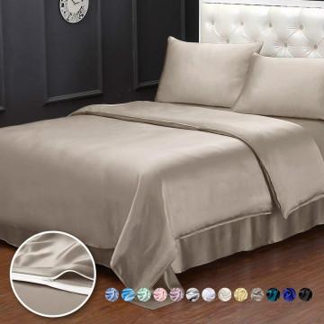 Funda nórdica de seda de 3 piezas Fundas de almohada de sábana ajustable