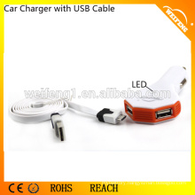Car Accessory Mobile Charger for Iphone/ Samsung/ Car Mount Dual USB Mini Charger