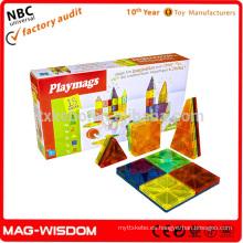 Playmags 2016 Bloques magnéticos de azulejos de construcción Magna Azulejos calientes 18pcs