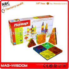 Playmags 2016 Magnetic Building Tile Blocks Magna Hot Tiles 18pcs