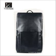 Homens de mochila de couro genuíno personalizado fabricante mochila