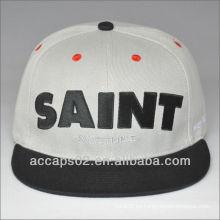 Personalizado 6 paneles contrastantes snap back hats