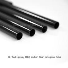 Tubes ronds de fibre de carbone de lustre 6 * 8 * 1000mm pour l'avion