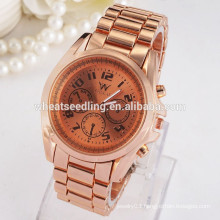 Hot sale gold plated 3 small dial fancy wrist watch