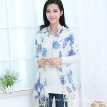 Wool Printed Shawl (13-BR020302-4.1)