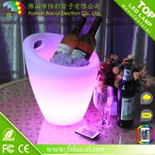 LED Rechargeable Bar Wine Cooler Godet à glace LED