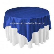 Hochwertige königliche blaue Satin-Hochzeits-Dekorationen Overlay