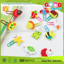 Creative DIY Paper Clip Handmade Kids Cartoon Bookmarks in playwood