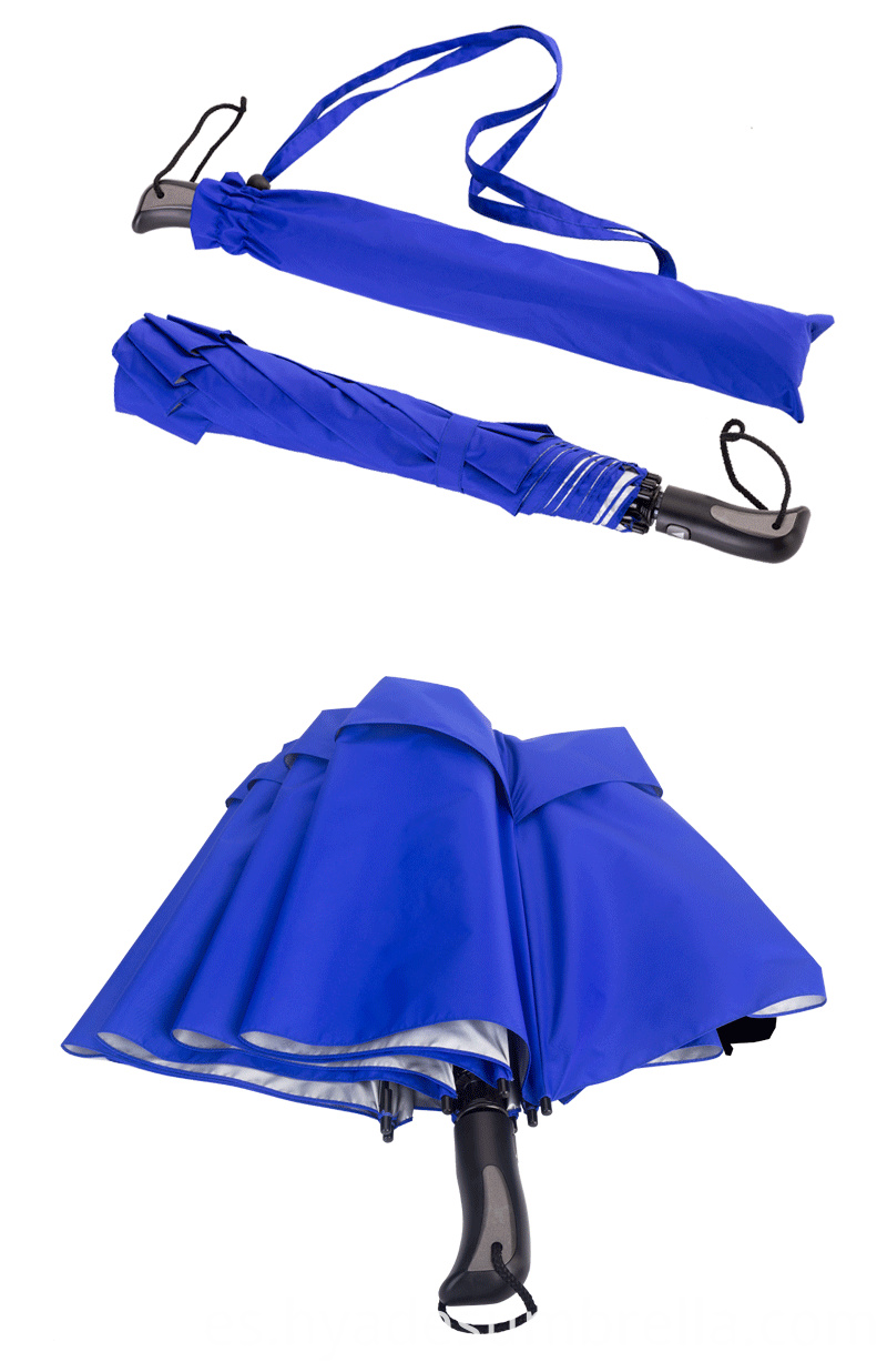 Silver Coating Folding Golf Umbrella