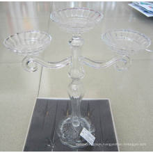 Clear Glass Candle Holder with Three Posters**