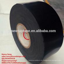 Cinta de envoltura interior negra polyken 980 de 0,38 mm de grosor para envoltura de tuberías