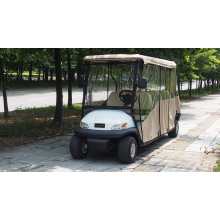 New Energy Lithium Battery Golf Cart 6 Seaters with Rain Hood