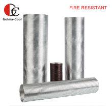 Duto de ventilação de ar flexível de alumínio semirrígido