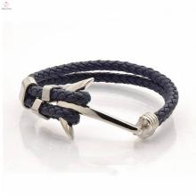Directe d'usine de haute qualité conception en vrac tennis Anchor Bracelet en cuir