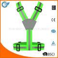 Регулируемый флуоресцентный жилет предупреждающий пояс для велосипеда