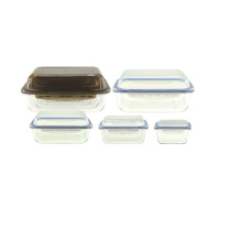 Микроволновая печь стеклянная Коробка обеда с крышкой Воздухонепроницаемая
