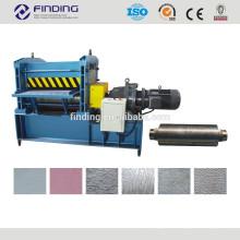 tôle en acier gaufrage feuille de gaufrage en acier machine à rouleaux de gaufrage
