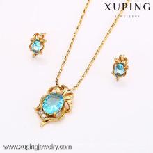 62581-Xuping Hot Item joyería promocional conjunto chapado en oro joyas