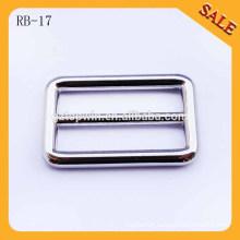 RB17 Custom handbags nickle loop ring,logo side release buckle