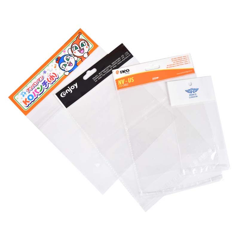 medium-sized OPP card head plastic bags