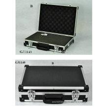 boîte à outils aluminium forte & portable amovible mousse coupée en dés à l'intérieur