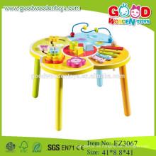 Tabla de madera multifuncional perlas madera mesa juguetes colorido perlas tabla de madera de juguetes