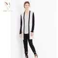 Stylish Long V Neck Cashmere Knitted Cardigan Sweater Female