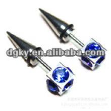 Neue Art blaue Diamant-chirurgische Stahlohr-Piercingschmucksachen