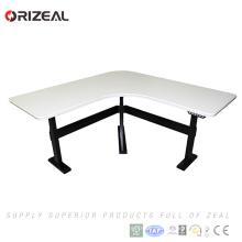 Ventas al por mayor motorizadas de altura ajustable columna individual ajustable Stand Up Desk con memoria