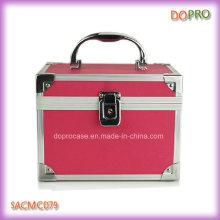 Сплошной розовый цвет распашной косметический Чехол пластиковый тщеславия (SACMC079)