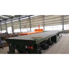 Semi-remorque surbaissée Container 3 essieux 40 pieds