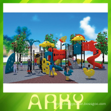 Colourful residential kids outdoor playground equipment