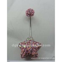 Magnetic piercing corpo jóias anéis de botão da barriga de casamento
