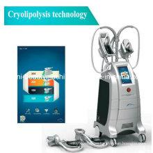 El más nuevo equipado con la cabeza que trabaja de la belleza de la máquina de la disolusión gordo de la liposucción del Cryolipolysis de cuatro cabezas (ETG50-4S)