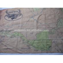EUA parque mapa cachecol fornecedor / poliéster lenço voile