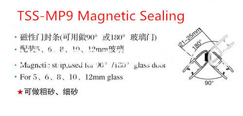 Magnetic 90 Degree Waterproof Pvc Glass Door Seal Strip