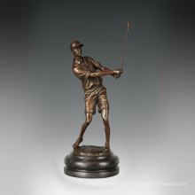 Statue sportive Statue Golf Sculpture masculine en bronze, Milo TPE-779