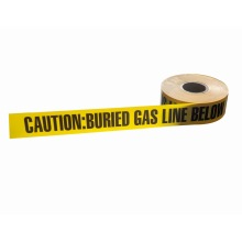 Aluminum foil underground detectable caution tape