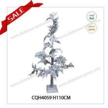 Nouveau style PE décoration décoration ornement arbre de noël avec neige