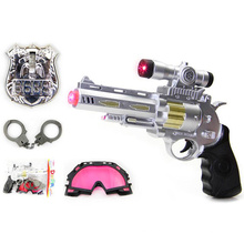 Пластиковые Electrice голос пистолет с полицейский Набор для детей