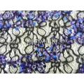 SPIDE LACE WITH 5MM +9MM SEQUIN EMBD 50/52""